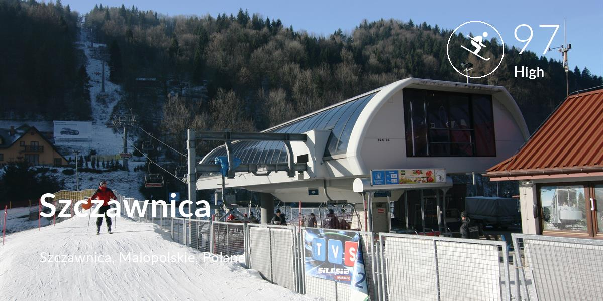 Skiing comfort level is 97 in Szczawnica