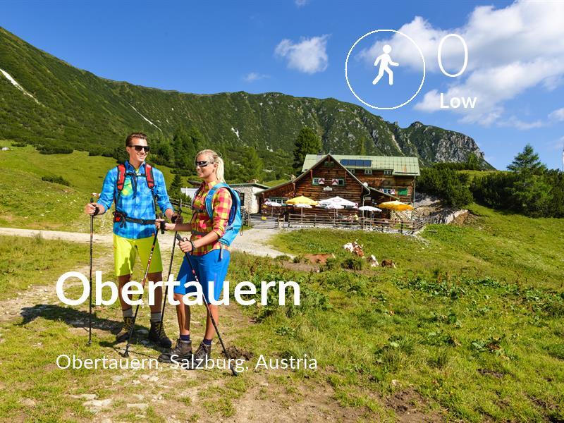 Walking comfort level is 0 in Obertauern