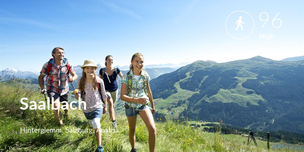 Walking comfort level is 96 in Saalbach