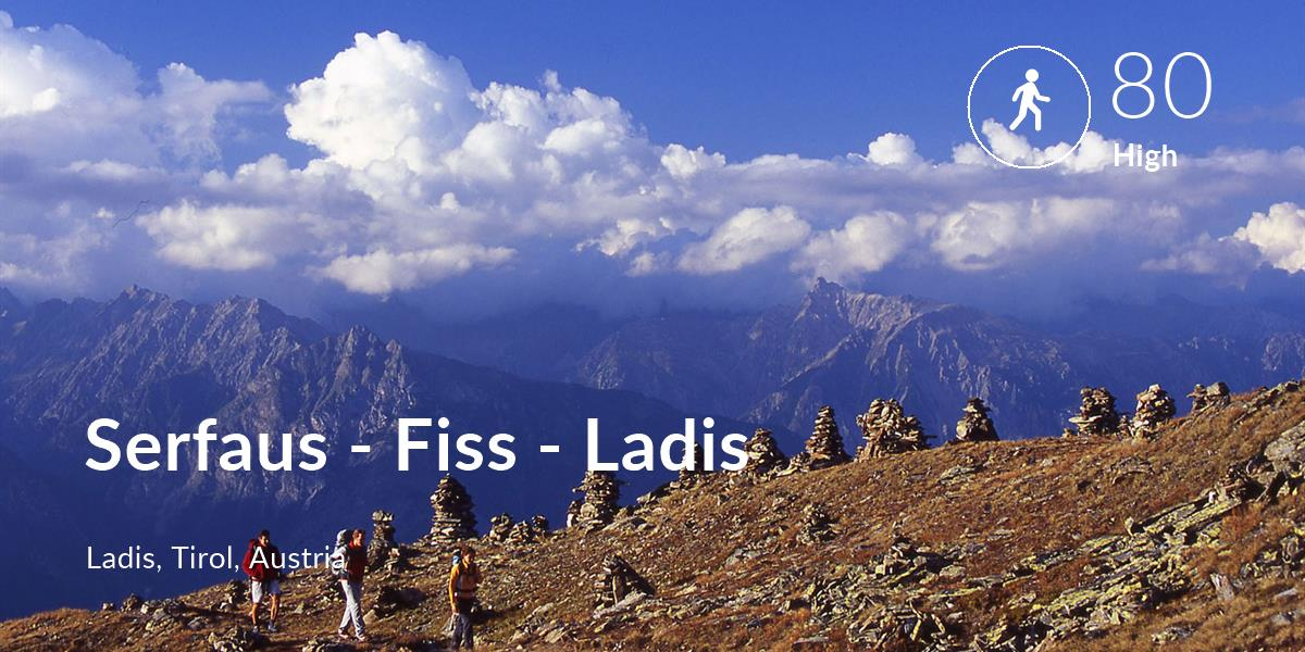 Walking comfort level is 80 in Serfaus - Fiss - Ladis