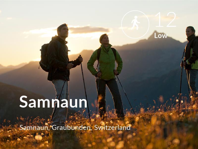 Walking comfort level is 12 in Samnaun