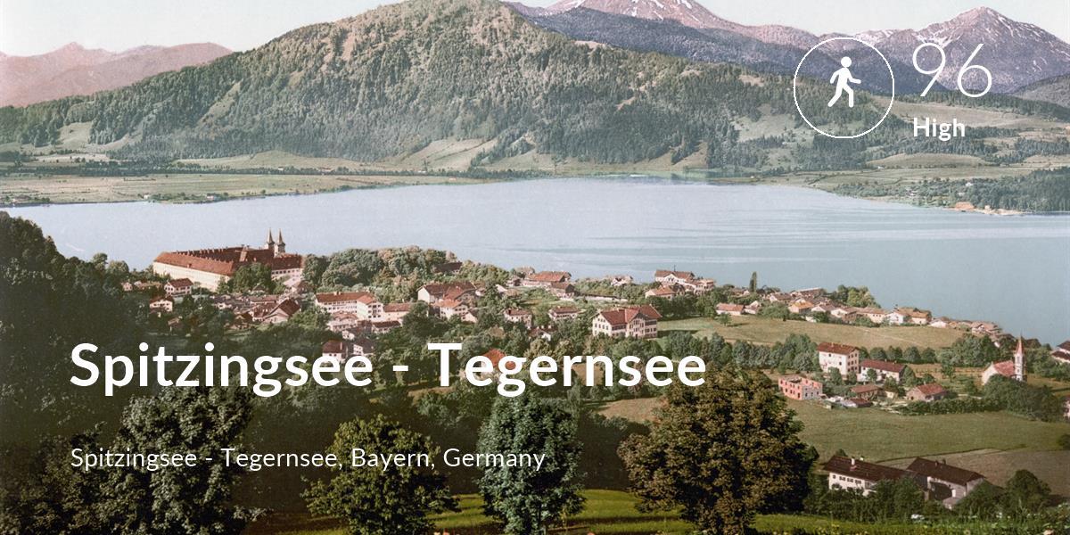Walking comfort level is 96 in Spitzingsee - Tegernsee
