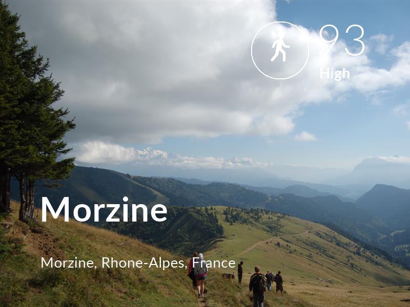 Walking comfort level is 93 in Morzine