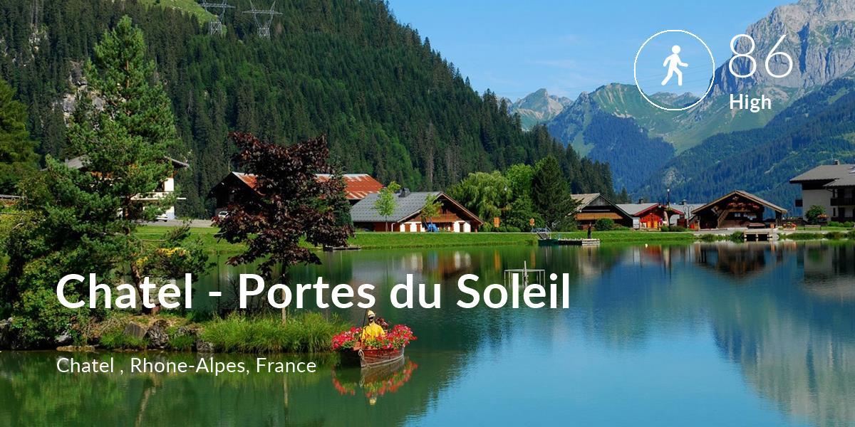 Walking comfort level is 86 in Chatel - Portes du Soleil
