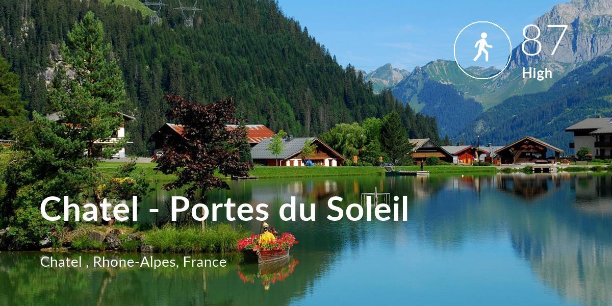 Walking comfort level is 87 in Chatel - Portes du Soleil