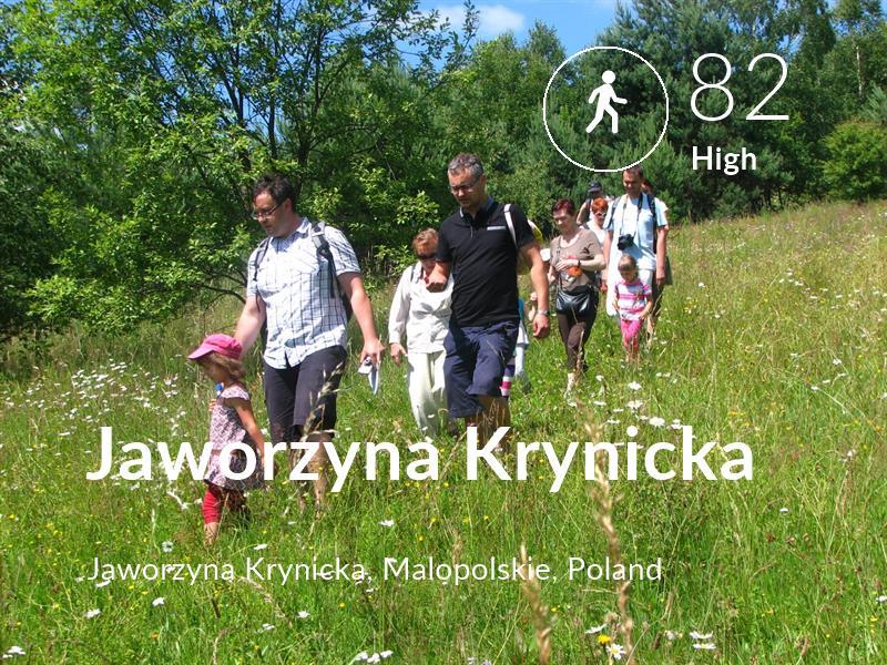Walking comfort level is 82 in Jaworzyna Krynicka