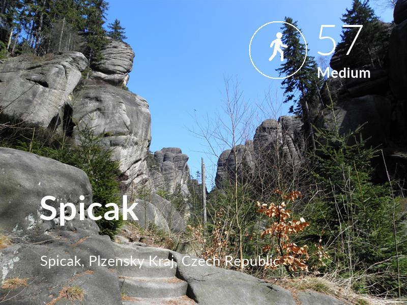 Walking comfort level is 57 in Spicak