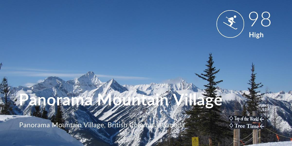 Skiing comfort level is 98 in Panorama Mountain Village