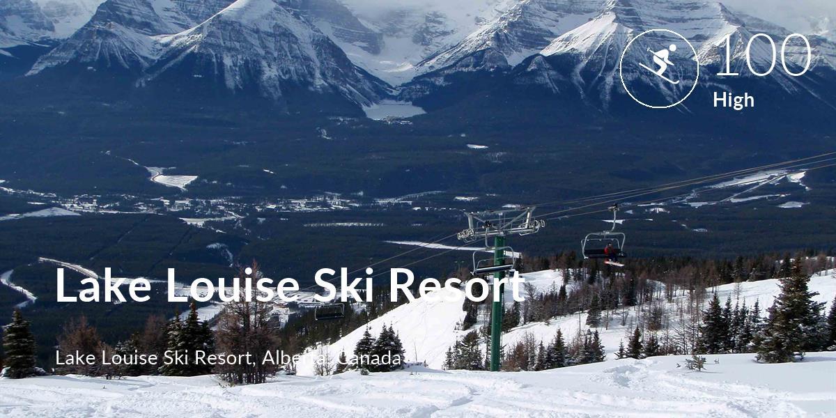 Skiing comfort level is 100 in Lake Louise Ski Resort