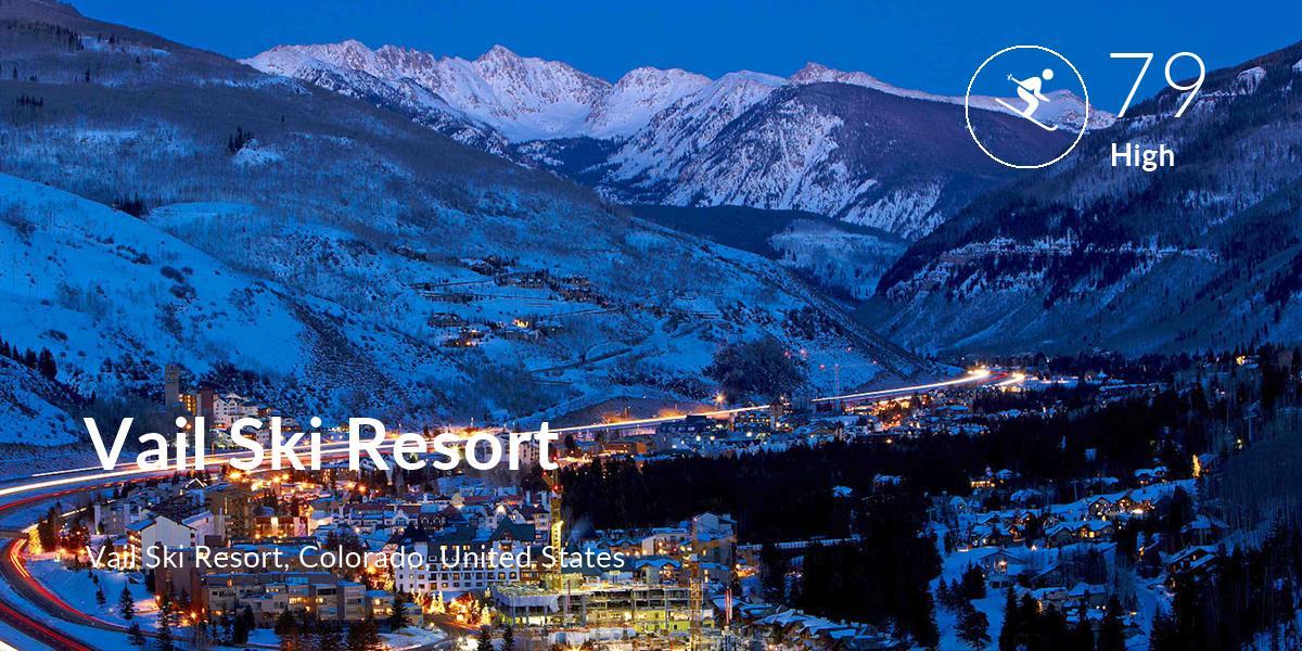 Skiing comfort level is 79 in Vail Ski Resort