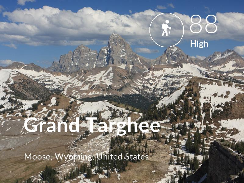 Hiking comfort level is 88 in Grand Targhee