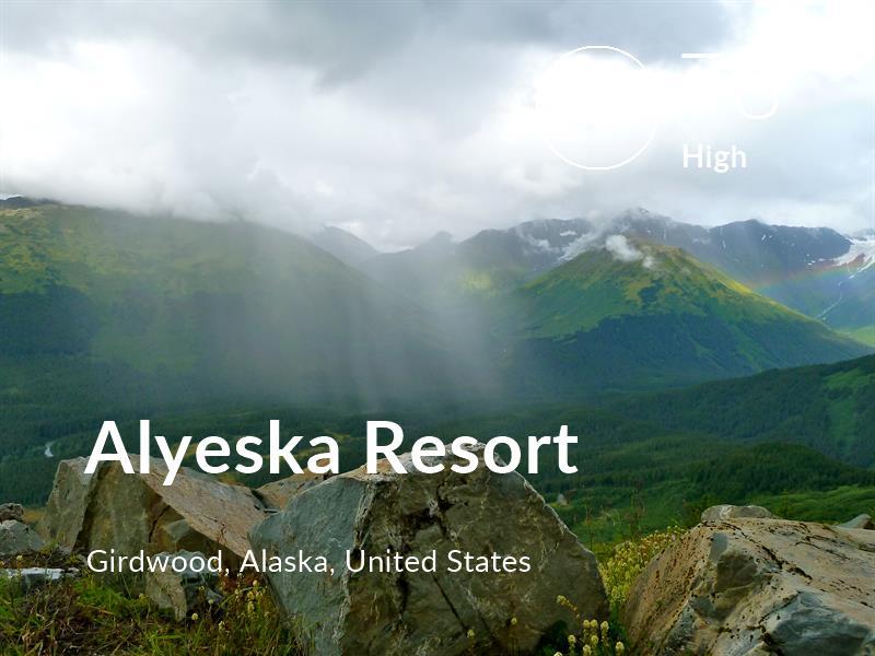 Hiking comfort level is 78 in Alyeska Resort