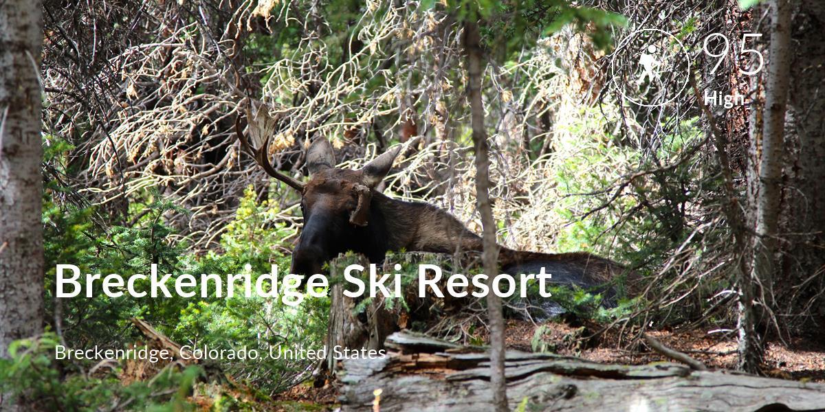 Hiking comfort level is 95 in Breckenridge Ski Resort