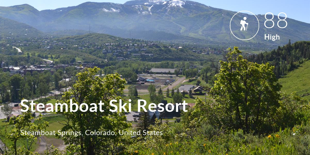 Hiking comfort level is 88 in Steamboat Ski Resort