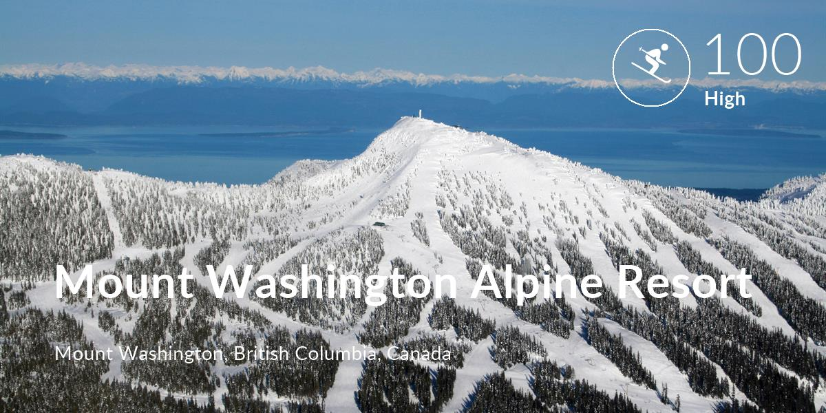 Skiing comfort level is 100 in Mount Washington Alpine Resort