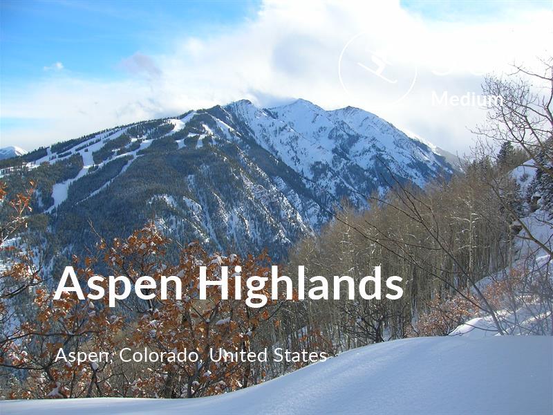 Skiing comfort level is 50 in Aspen Highlands