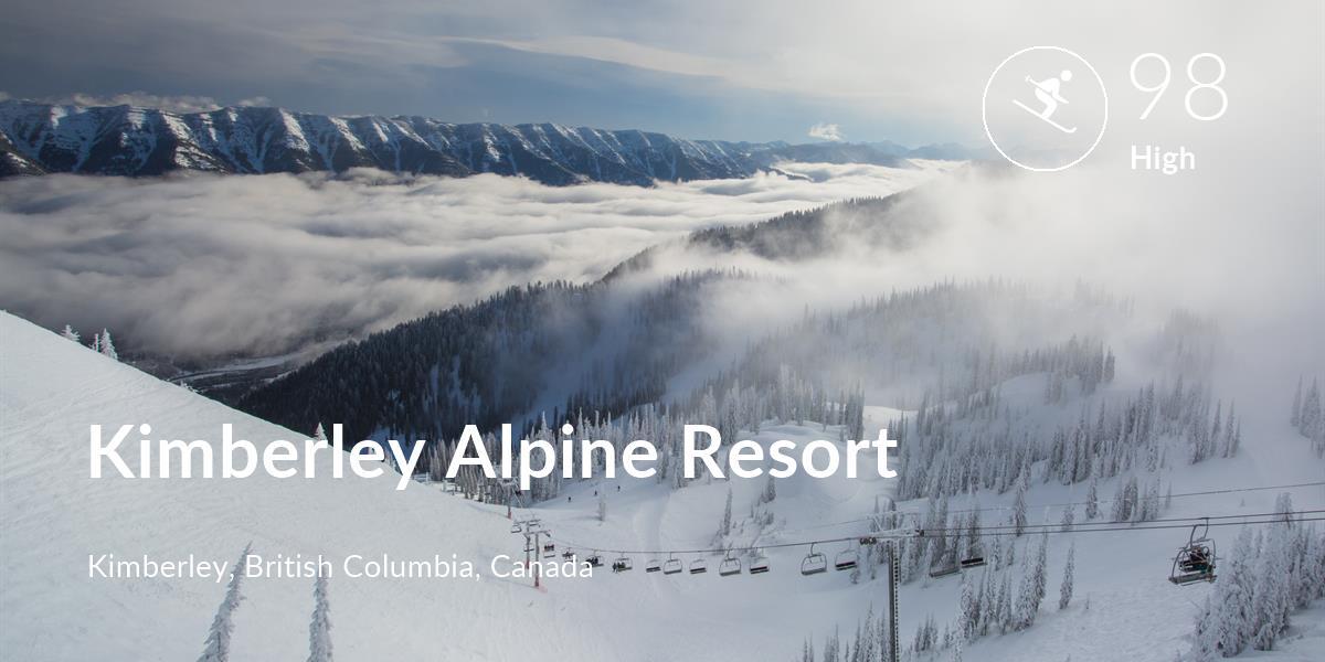 Skiing comfort level is 98 in Kimberley Alpine Resort