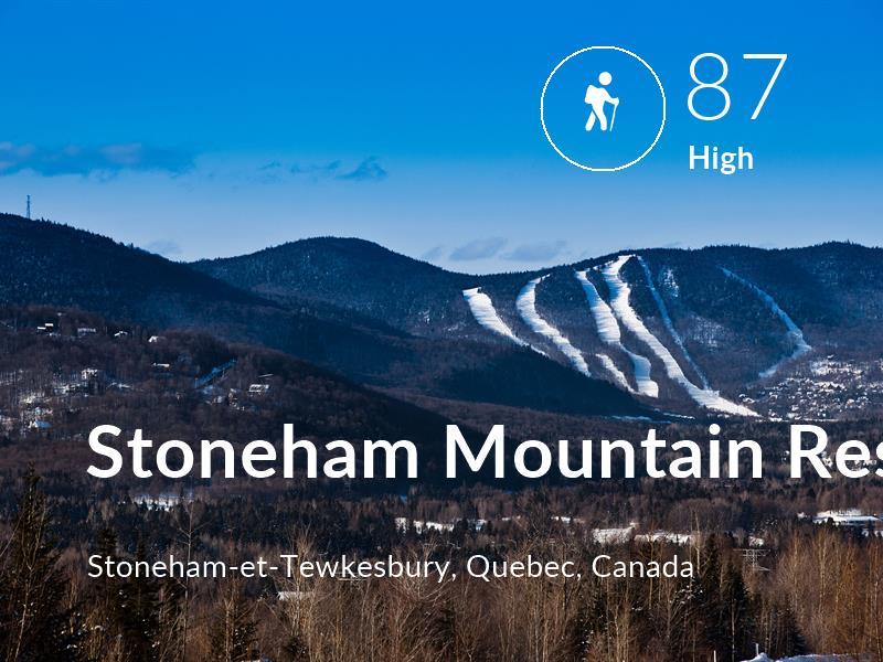 Hiking comfort level is 87 in Stoneham Mountain Resort