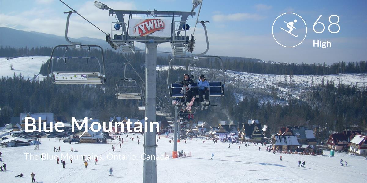 Skiing comfort level is 68 in Blue Mountain