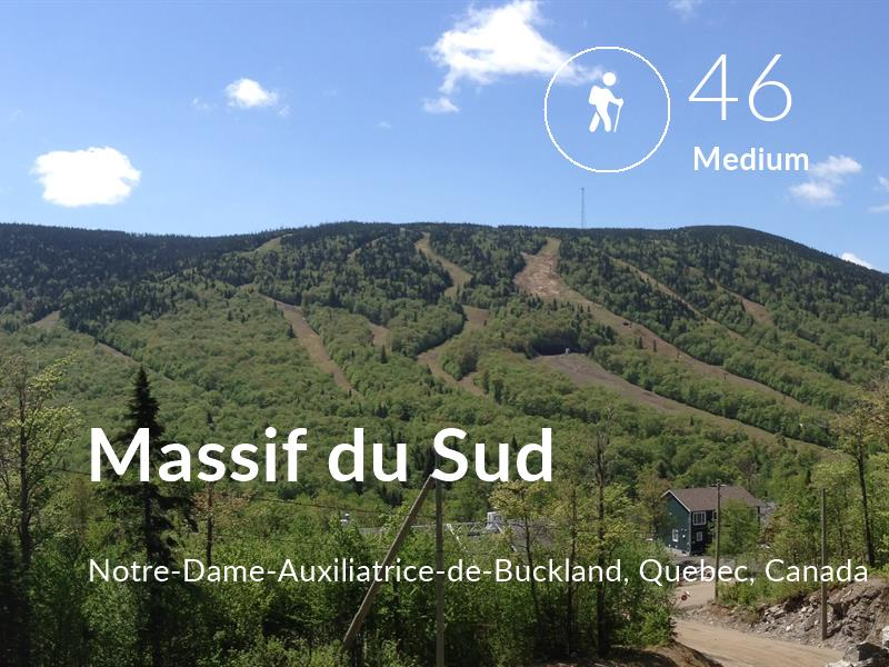 Hiking comfort level is 46 in Massif du Sud