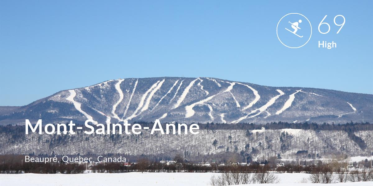Skiing comfort level is 69 in Mont-Sainte-Anne