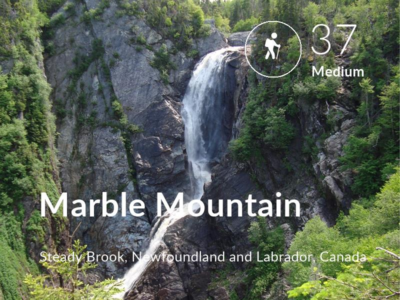 Hiking comfort level is 37 in Marble Mountain