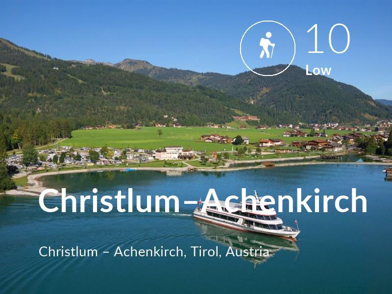 Hiking comfort level is 10 in Christlum–Achenkirch