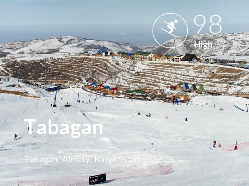 Skiing comfort level is 98 in Tabagan