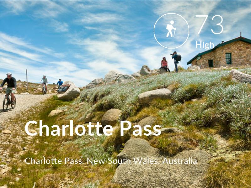 Hiking comfort level is 73 in Charlotte Pass