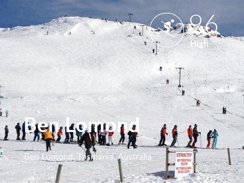 Skiing comfort level is 96 in Ben Lomond