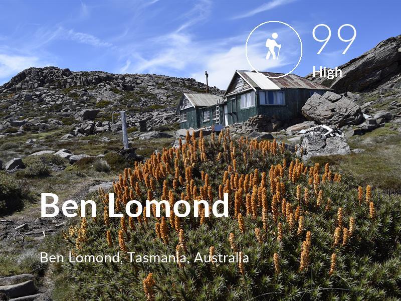 Hiking comfort level is 99 in Ben Lomond