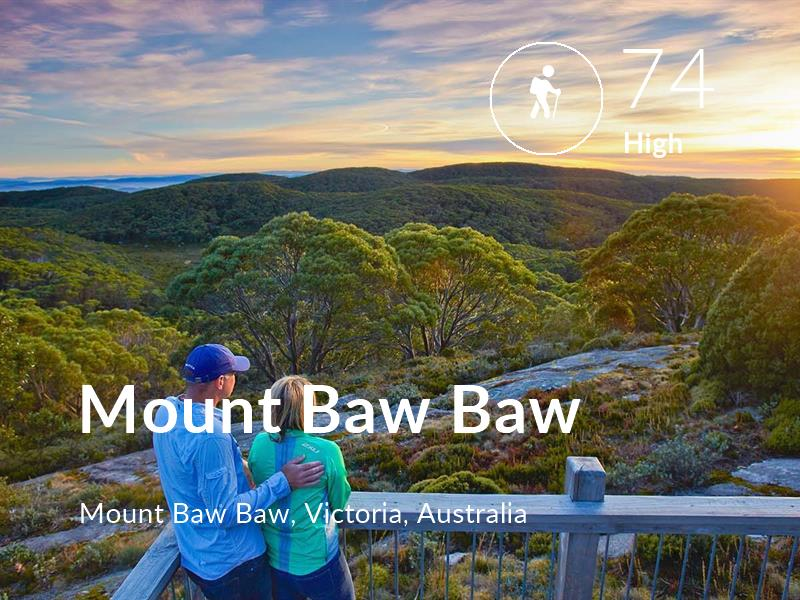 Hiking comfort level is 74 in Mount Baw Baw
