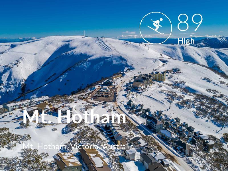 Skiing comfort level is 89 in Mt. Hotham
