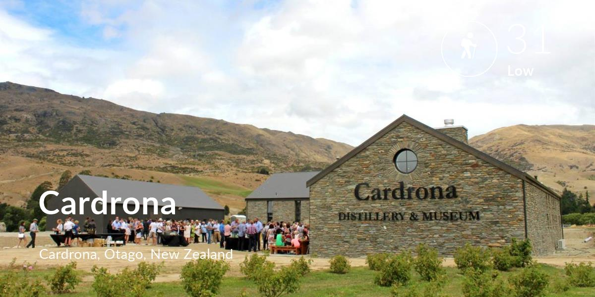 Hiking comfort level is 31 in Cardrona