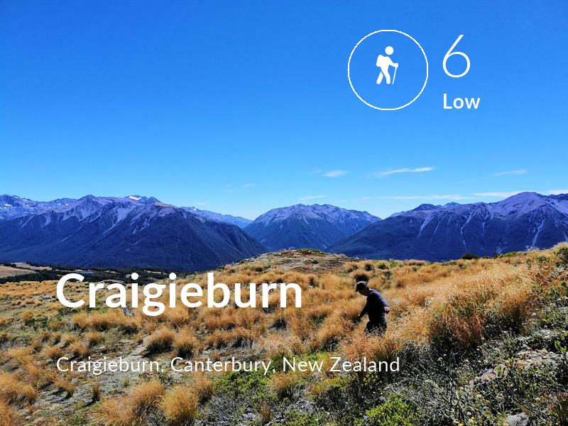 Hiking comfort level is 6 in Craigieburn