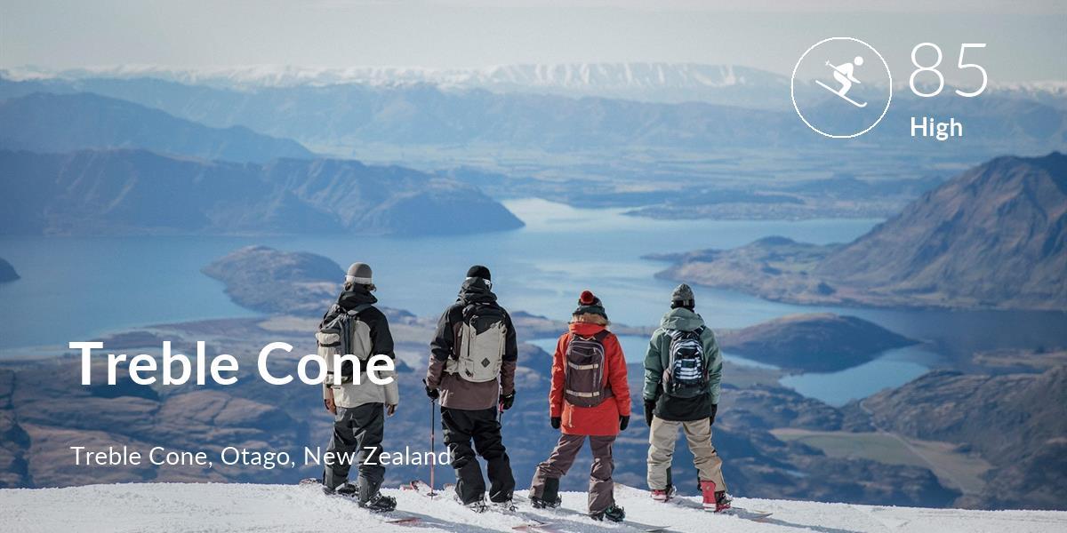 Skiing comfort level is 85 in Treble Cone