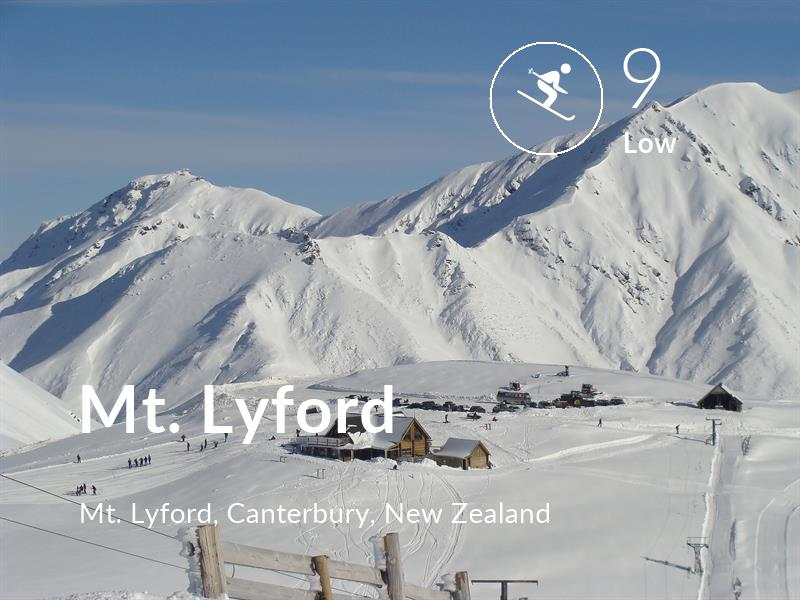Skiing comfort level is 9 in Mt. Lyford
