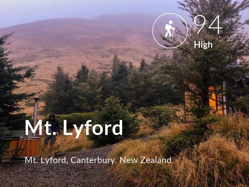 Hiking comfort level is 94 in Mt. Lyford