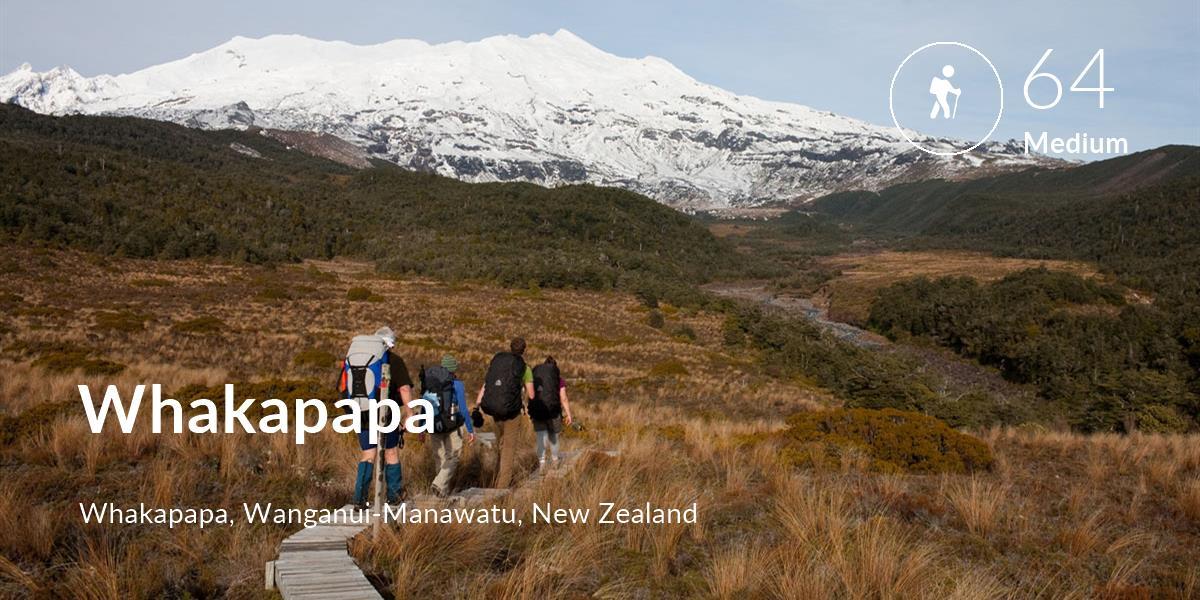 Hiking comfort level is 64 in Whakapapa