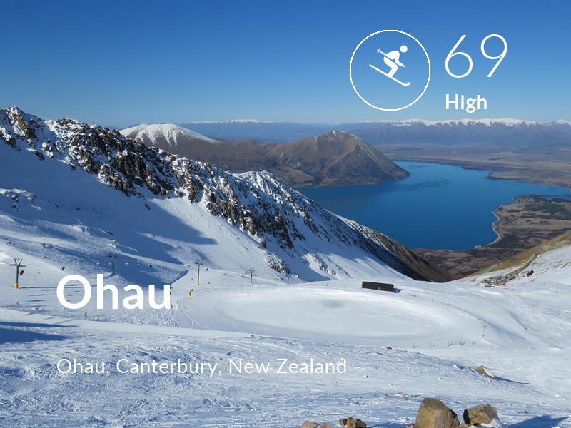 Skiing comfort level is 69 in Ohau