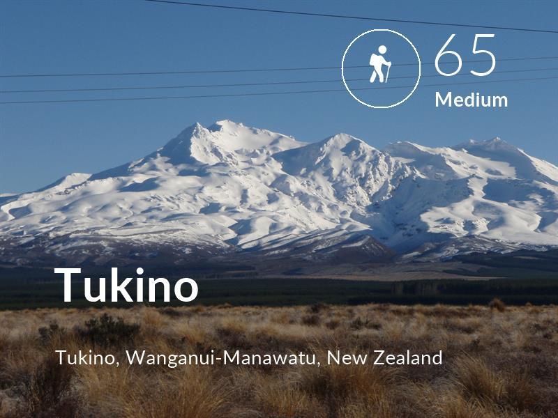 Hiking comfort level is 65 in Tukino