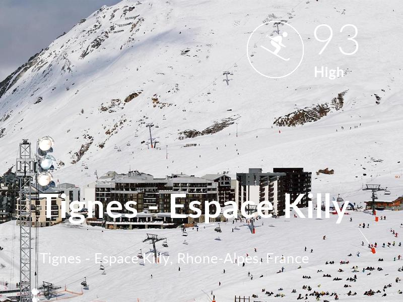Skiing comfort level is 93 in Tignes - Espace Killy