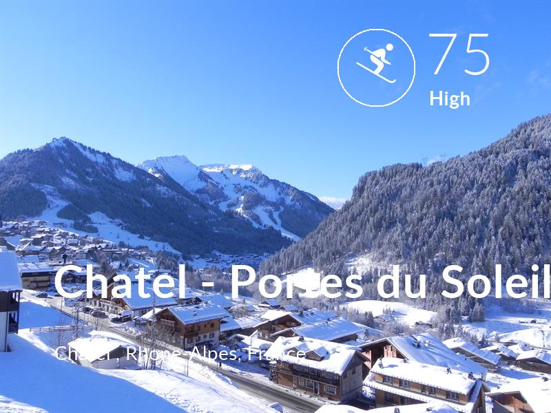 Skiing comfort level is 75 in Chatel - Portes du Soleil