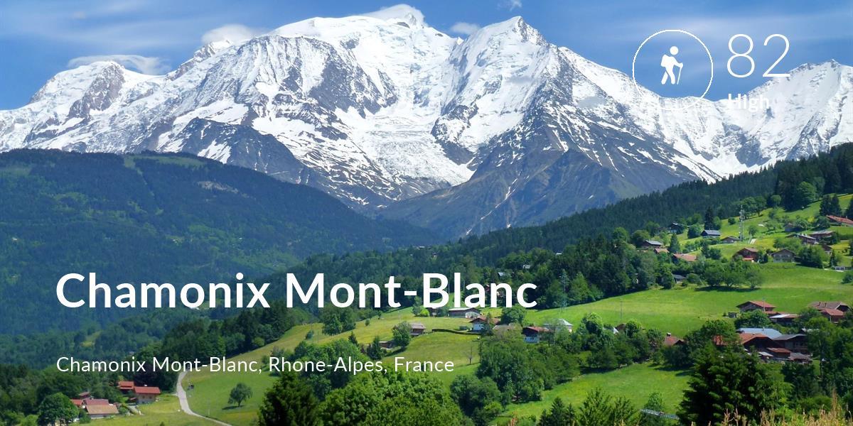Hiking comfort level is 82 in Chamonix Mont-Blanc